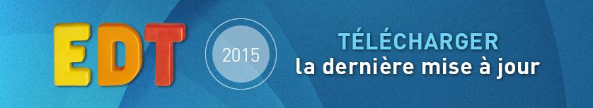 t�l�charger la derni�re mise � jour de EDT 2015