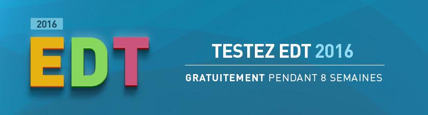 Version d'évaluation EDT 2016