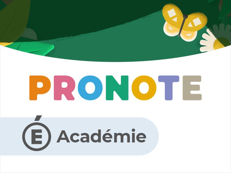 Espace Académie PRONOTE.net