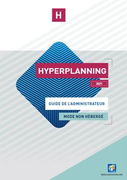 Guide de l'administrateur HYPERPLANNING
