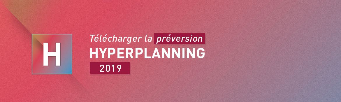 HYPERPLANNING 2018 en pré-version
