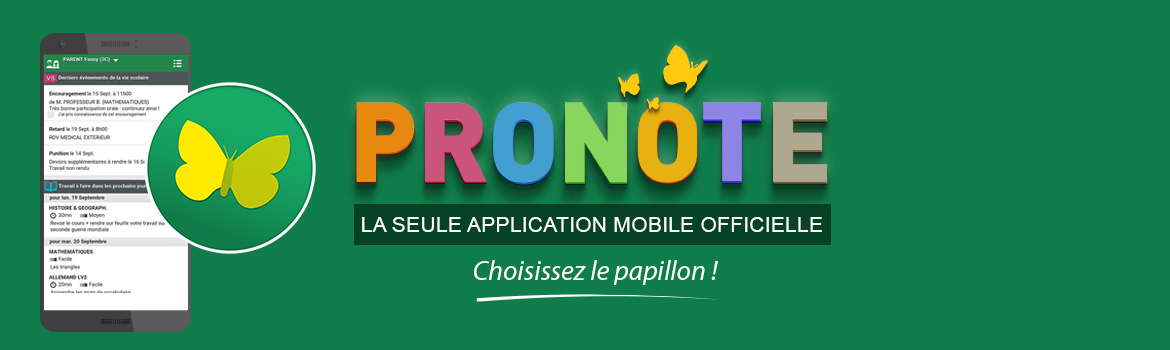 PRONOTE application mobile