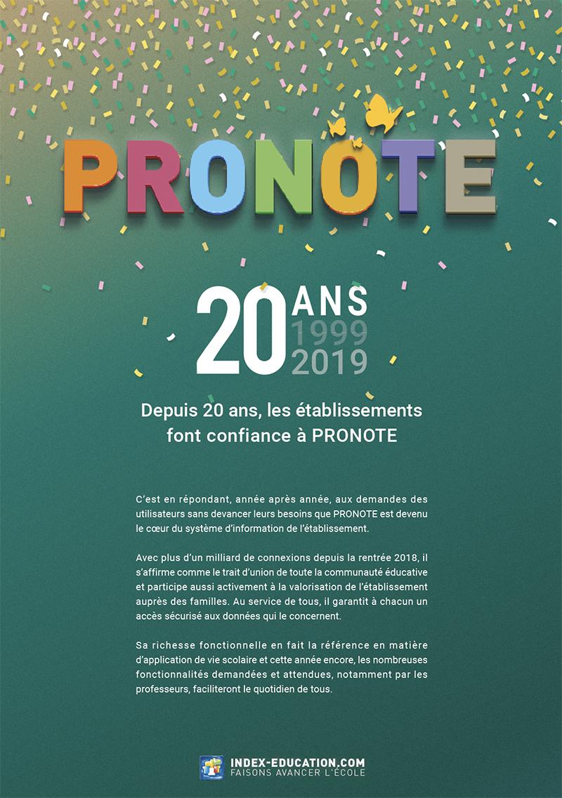 Télécharger la plaquette commerciale PRONOTE 2019