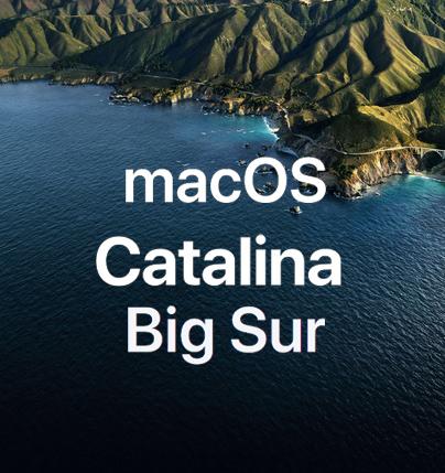 MacOS Catalina et Big Sur