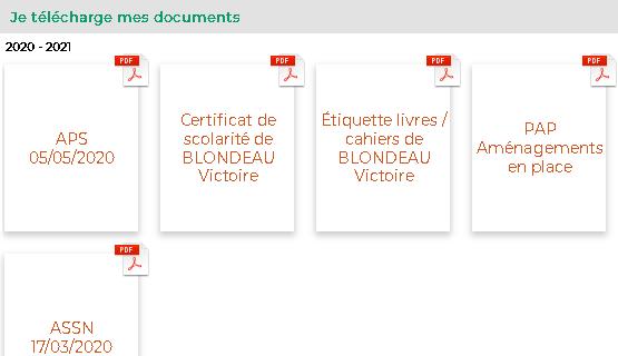 Certificats de scolarité et attestations