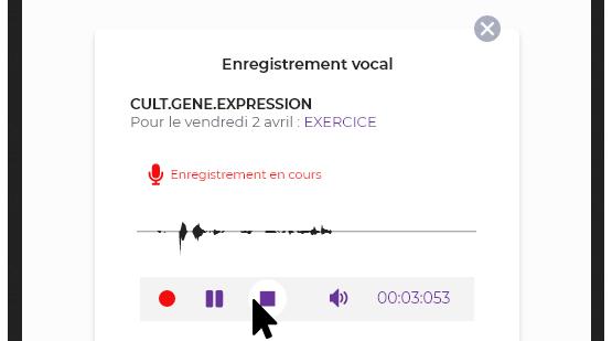 Rendu d'un enregistrement vocal