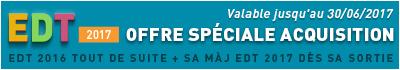 OFFRE spéciale EDT 2017 en acquisition